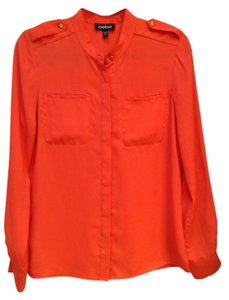 bebe Button Down Shirt Orange