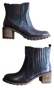 Rocket Dog Combat 90s Chunky Leather Brown Boots