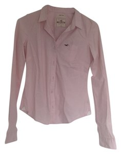 Hollister Button Down Shirt Pink