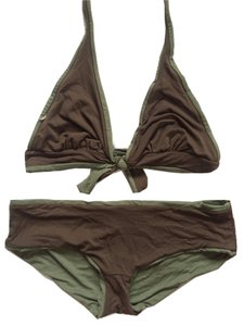 BCBGMAXAZRIA Reversible Boy Shorts Bikini Swimsuit