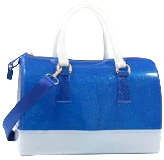 Preload https://item1.tradesy.com/images/jelly-candy-color-handbags-bluewhite-pvc-satchel-14901745-0-1.jpg?width=440&height=440