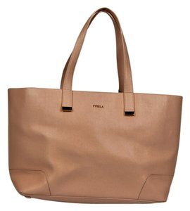 Furla Saffiano Leather Tote in Magnolia