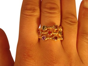 Saks Fifth Avenue Saks Fifth Avenue Multi Gem Ring