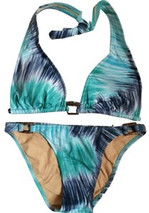 BCBGMAXAZRIA Wooden Rings Detail Bikini Swimsuit