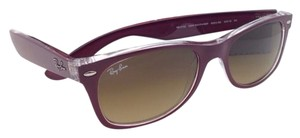 Ray-Ban RAY-BAN Sunglasses RB 2132 6054/85 52-18 NEW WAYFARER Burgundy-Clear/Brown Fade
