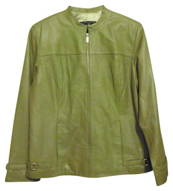 Preload https://img-static.tradesy.com/item/1490204/terry-lewis-classic-luxuries-green-lambskin-with-belted-detail-leather-jacket-size-10-m-0-2-650-650.jpg