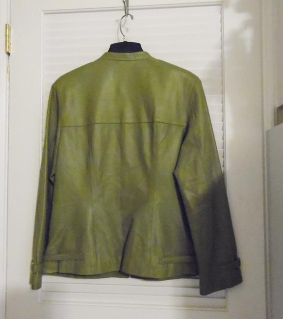 Terry Lewis Classic Luxuries Green Leather Jacket