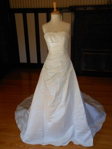Pronovias Light Ivory Satin Orly Destination Wedding Dress Size 22 (Plus 2x)