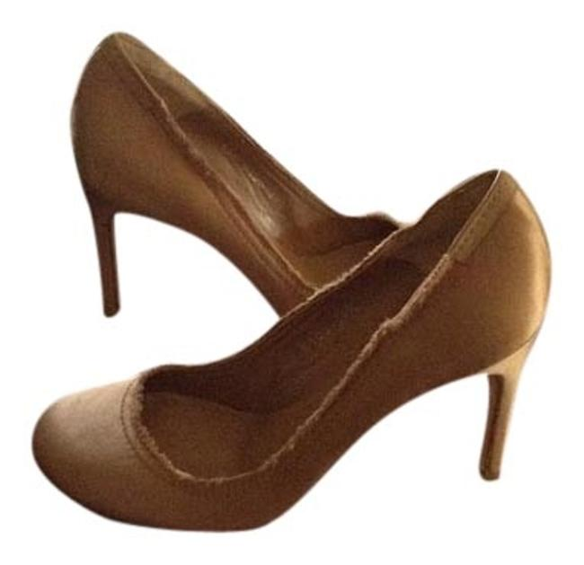 Pedro Garcia Blush New and Unworn with Dust Bag Satin with Raw Edges Pumps Size US 9.5 Regular (M, B) Pedro Garcia Blush New and Unworn with Dust Bag Satin with Raw Edges Pumps Size US 9.5 Regular (M, B) Image 1