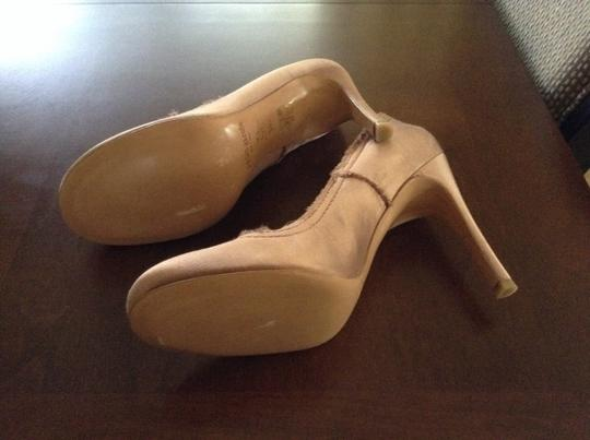 Pedro Garcia New And Unworn With Dust Bag Satin With Raw Edges Blush Pumps
