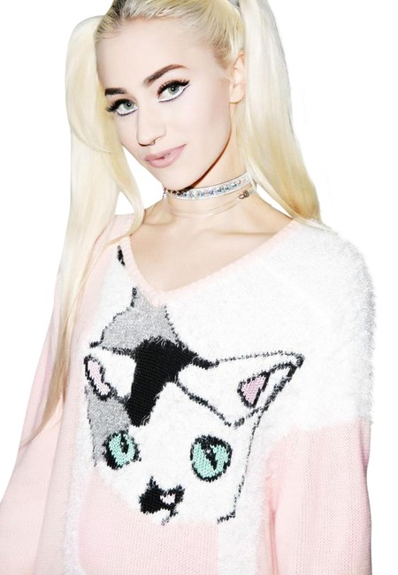 Preload https://item4.tradesy.com/images/wildfox-white-label-joan-the-cat-baggy-m-l-pink-sweater-14902468-0-3.jpg?width=400&height=650