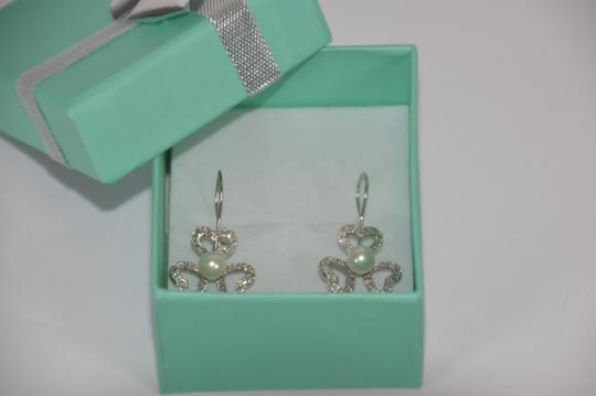 White Gold 1/2ct. Genuine Diamonds Fresh Water Pearl 14k Solid Drop Earrings
