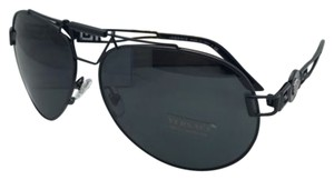 Versace VERSACE Sunglasses VE 2160 1009/87 63-14 Black Aviator Frame w/ Gray Lenses