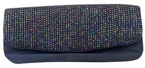 J. Renee Elegant Black with multi-colored beads Clutch