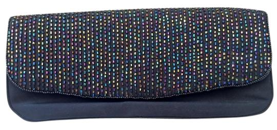 Preload https://img-static.tradesy.com/item/14902522/j-renee-black-with-multi-colored-beads-nylon-and-beaded-clutch-0-1-540-540.jpg