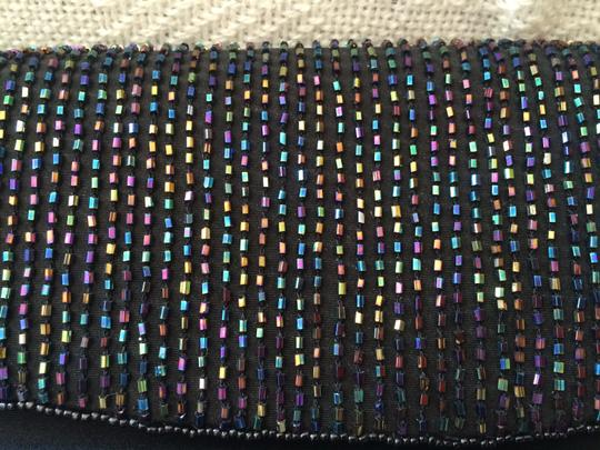 J. Reneé Beaded Elegant Black with multi-colored beads Clutch