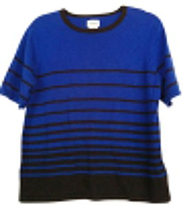 Liz Baker Striped Color-blocking Sweater
