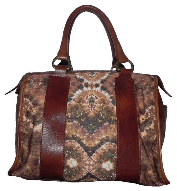 Saddle Old West Sydney Multi Color Fabric and Leather Satchel Saddle Old West Sydney Multi Color Fabric and Leather Satchel Image 1