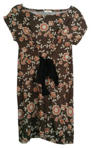 Ailes short dress Brown Tie Asian Floral on Tradesy