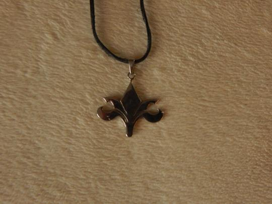 Other Black leather chain knecklace