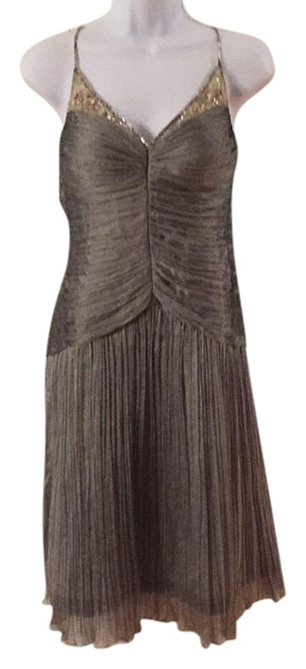 Lord Taylor Silver Knee Length Cocktail Dress Size 4 S Tradesy