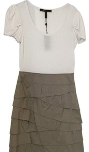 BCBGMAXAZRIA short dress White; Tan on Tradesy