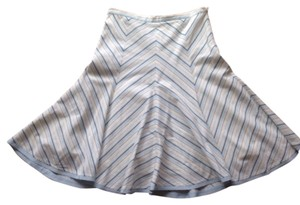 BCBGMAXAZRIA Skirt Blue and white