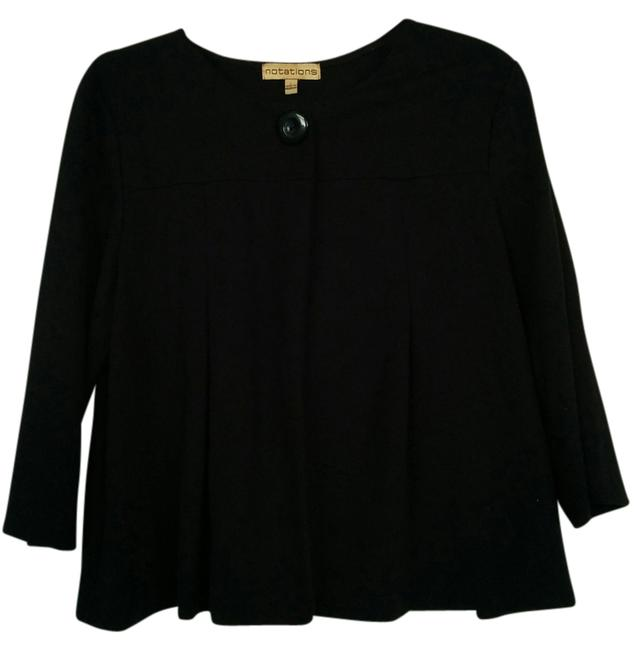 Preload https://item2.tradesy.com/images/notations-black-34-sleeve-one-button-coverup-blazer-size-14-l-14903656-0-1.jpg?width=400&height=650