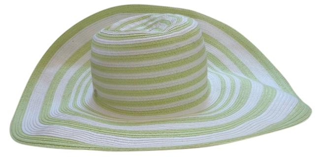 Item - Green & White Stripped Summer Hat