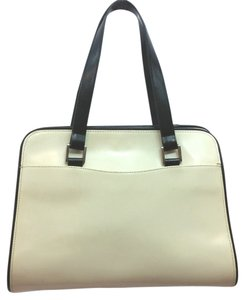 ZA Creme Leather Satchel