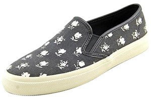 Coach Floral Slip Ons Sneakers Black Athletic