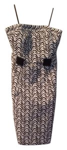 MILLY short dress Brown/White on Tradesy