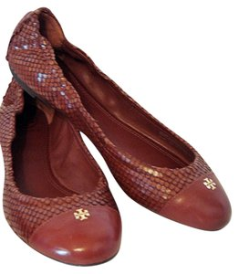 Tory Burch Brown/Cherry Almond Flats
