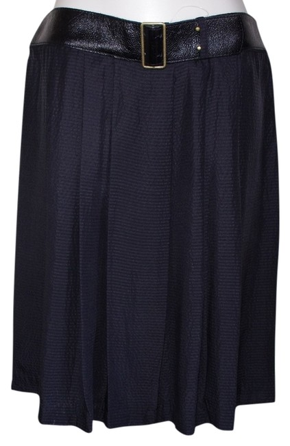 Preload https://item4.tradesy.com/images/twelfth-st-by-cynthia-vincent-black-belted-silk-pleated-skirt-size-10-m-31-14904838-0-1.jpg?width=400&height=650