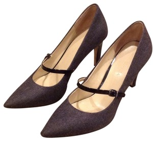 Via Spiga Grey and black patent Pumps