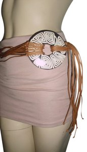 Other Greek bohemian style belt, Mykonos craft handpainted belt, Hippie gypsy music festival string belt