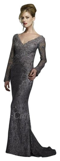 Preload https://img-static.tradesy.com/item/14905444/pewter-lace-8996-formal-bridesmaidmob-dress-size-14-l-0-4-540-540.jpg