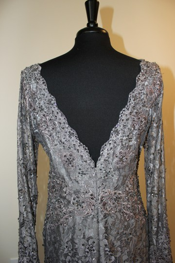Pewter Lace 8996 Formal Bridesmaid/Mob Dress Size 14 (L)