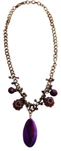 purple pendant costume jewelry