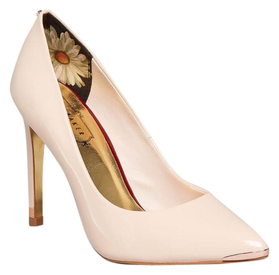 f6624220b9f9ed Ted Baker Nude Pink Neevo Pointed Leather Court Pumps. Size  US 7 ...