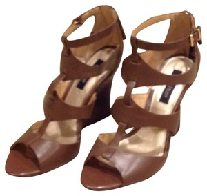 White House | Black Market Chocolate Brown Wedges