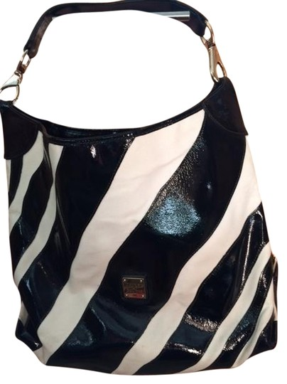 Preload https://item2.tradesy.com/images/dooney-and-bourke-zebra-black-and-white-patent-leather-canvas-hobo-bag-1490626-0-0.jpg?width=440&height=440