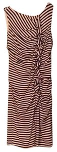 Suzi Chin for Maggy Boutique short dress Navy and bone Knee Length Striped on Tradesy