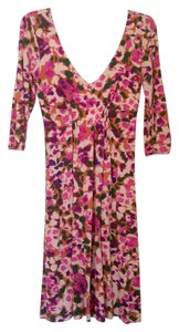 CAbi short dress Pink Floral 3/4 Sleeve on Tradesy