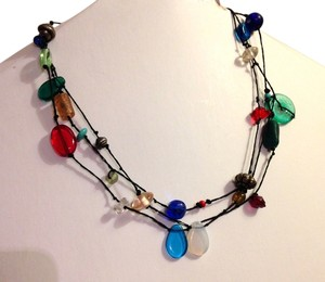 multi-colored swag necklace