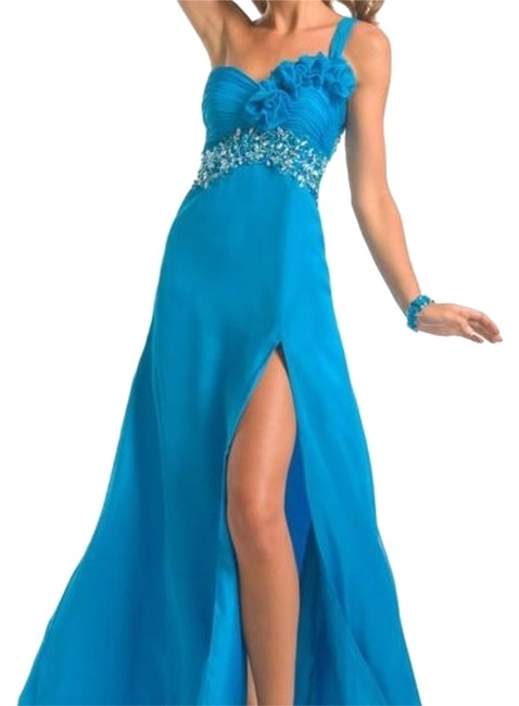 Preload https://item4.tradesy.com/images/party-time-formals-turquoise-6752-long-formal-dress-size-8-m-14906908-0-1.jpg?width=400&height=650