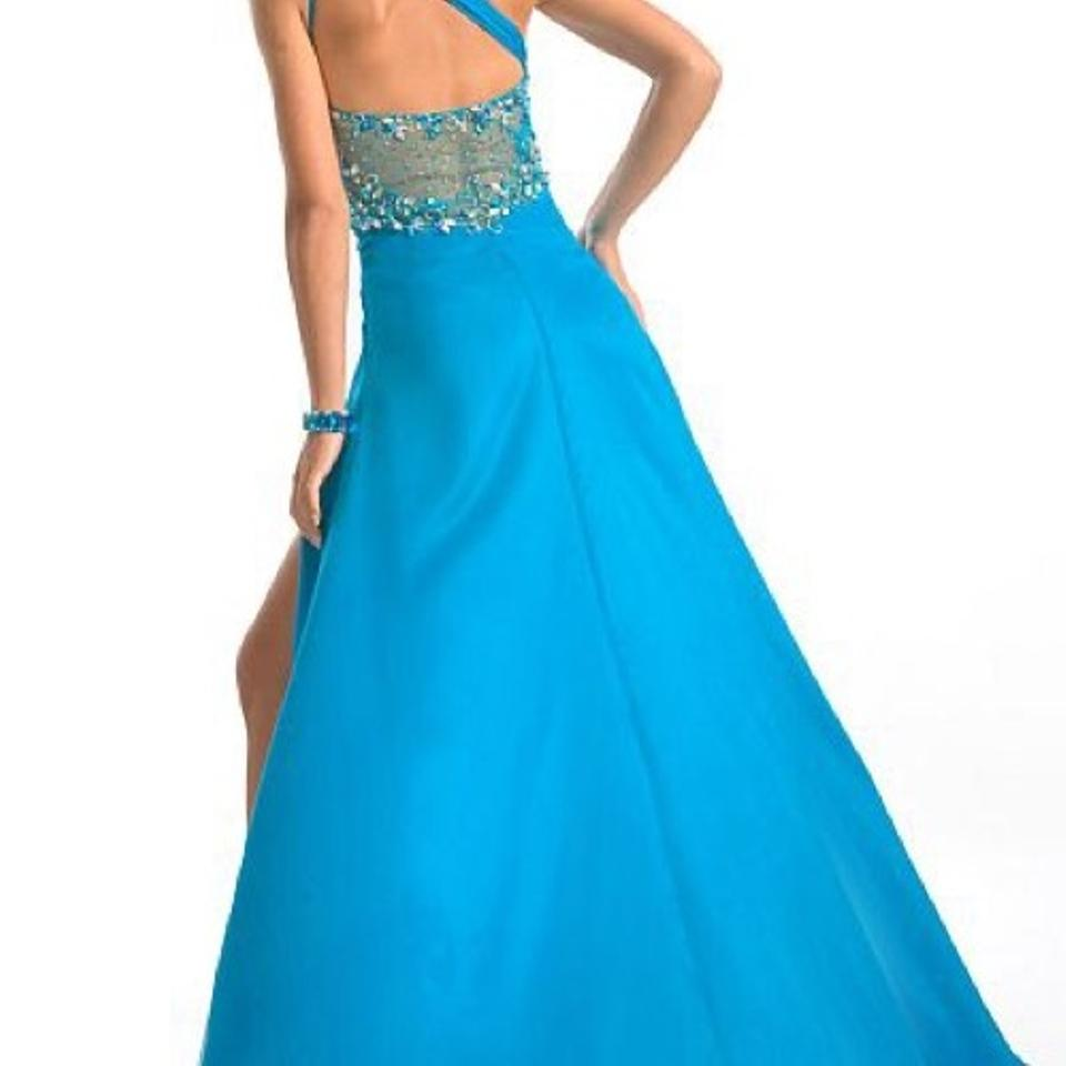 Party Time Formals Turquoise 6752 Long Formal Dress Size 8 (M) - Tradesy