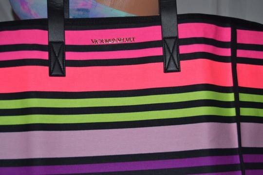 Victoria's Secret Vs Tote in Rainbow Stripe