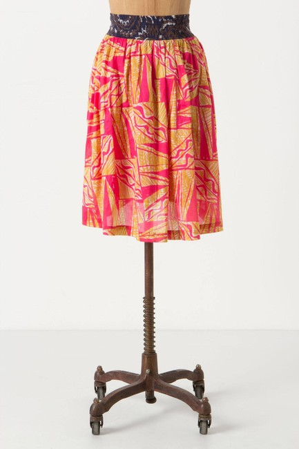 Anthropologie High Low Skirt MULTI