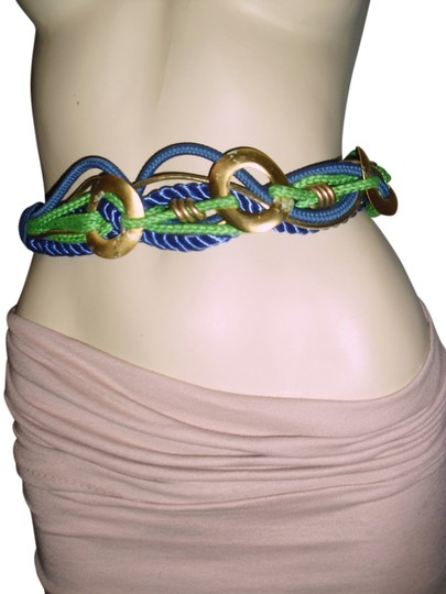 Preload https://img-static.tradesy.com/item/14907262/cobalt-blue-and-gold-cord-braided-unique-green-gold-twist-cord-hippie-gypsy-cord-belt-0-1-540-540.jpg